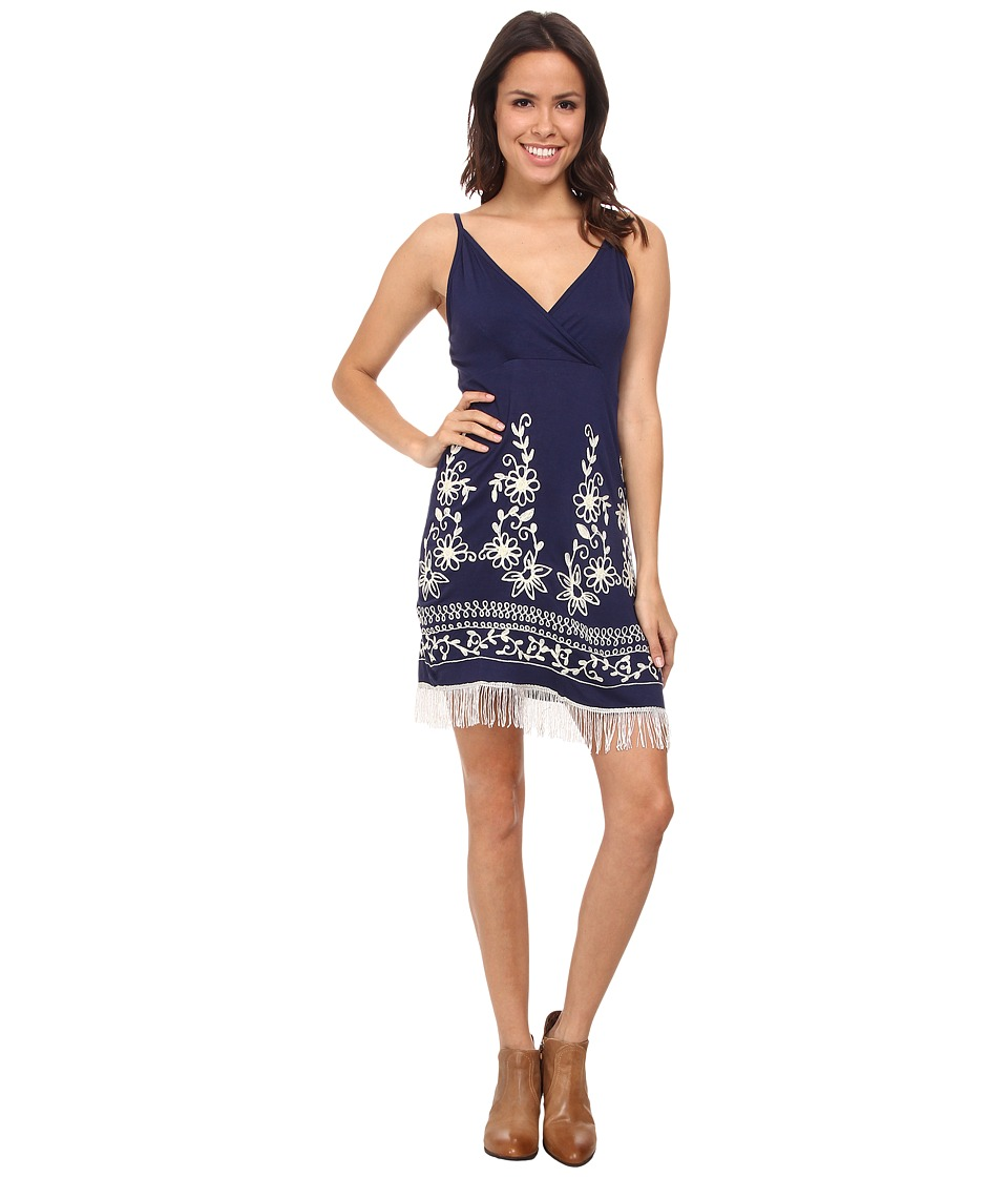 Scully - Ruth Fringe Sun Dress (Navy) Women's Dress