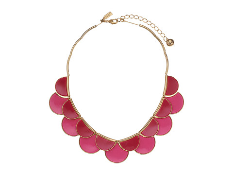 Kate Spade New York - Sweetheart Scallops Necklace (Pink Multi) Necklace