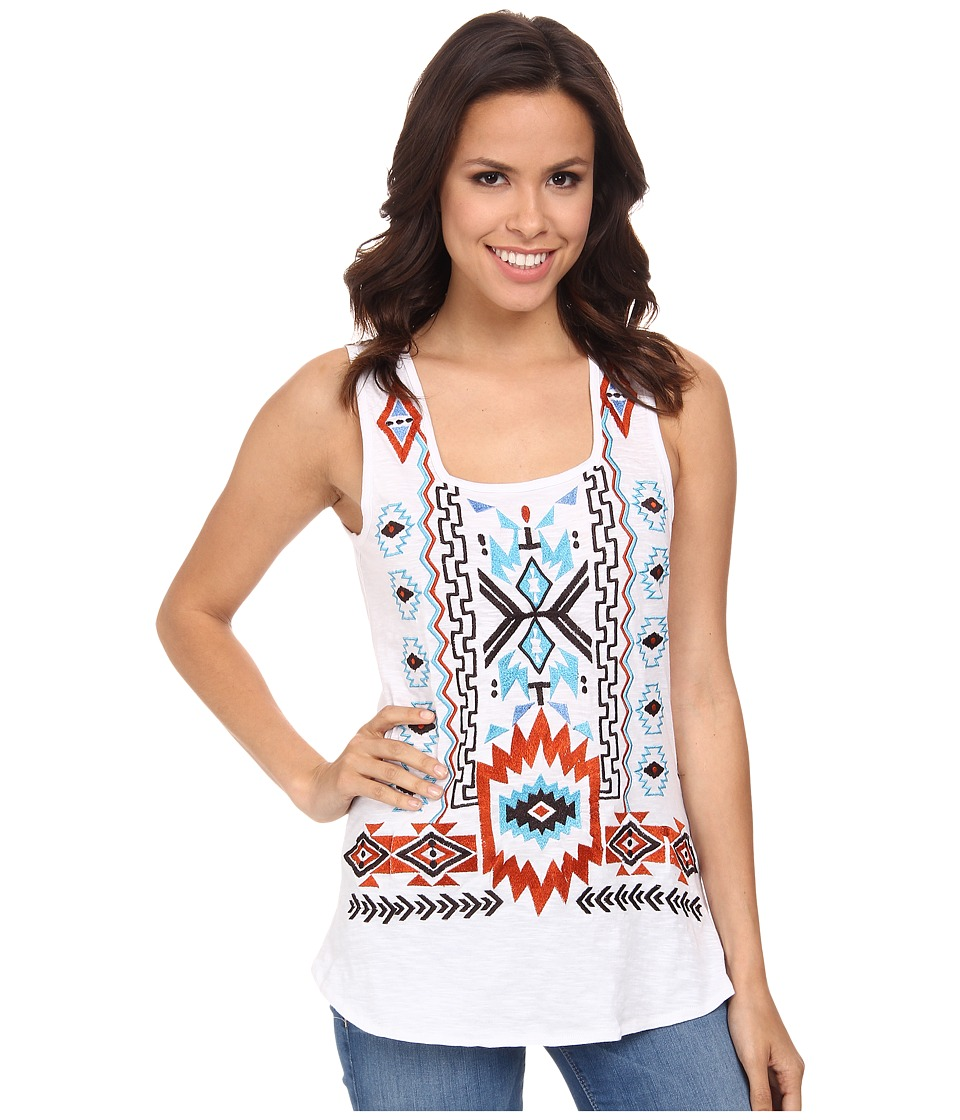 Scully - Mariana Embroidered Tank Top (White) Women