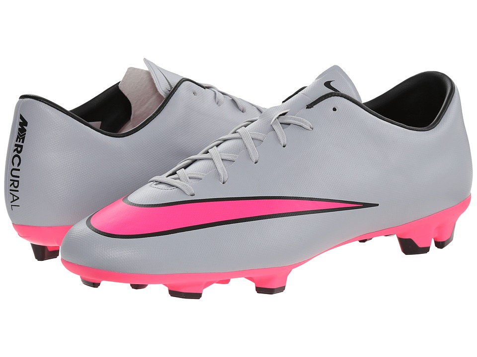Nike - Mercurial Victory V FG (Wolf Grey/Black/Hyper Pink) Men's Soccer Shoes