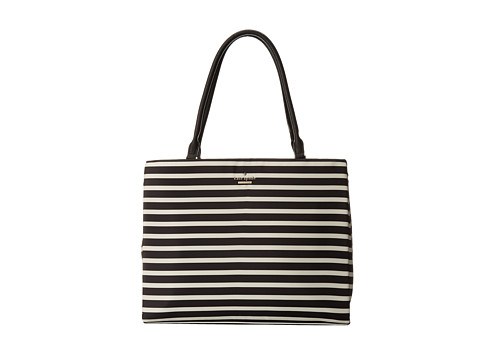 Kate Spade New York - Classic Nylon Phoebe (Black/Clotted Cream) Handbags