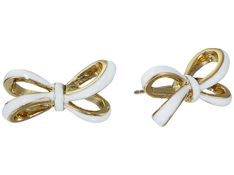 Kate Spade New York - Tied Up Studs Earrings (White) Earring