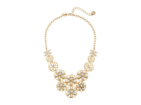 Kate Spade New York - Eyelet Garden Statement Necklace (White Multi) Necklace