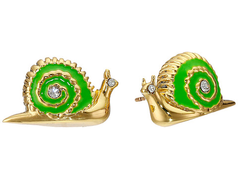 Kate Spade New York - Lawn Party Snail Studs Earrings (Green Multi) Earring