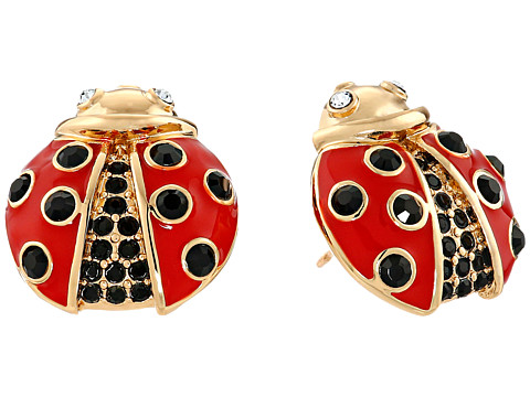 Kate Spade New York - Little Ladybug Ladybug Studs Earrings (Red Multi) Earring