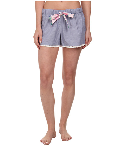 Jane & Bleecker - Woven Shorts 357952 (Blue Chambray) Women