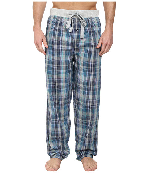 Kenneth Cole Reaction - Woven Pants (Turquoise Plaid) Men
