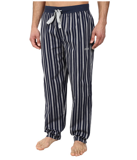 Kenneth Cole Reaction - Woven Pants (Dress Blue Stripe) Men's Pajama