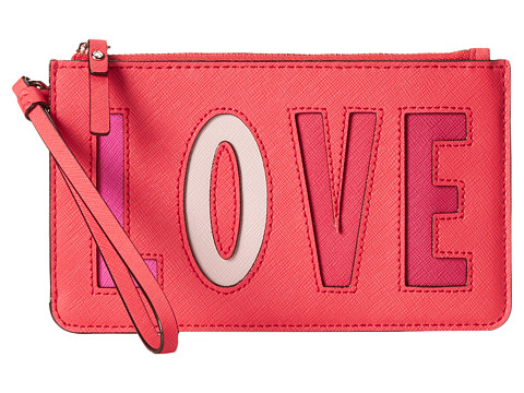 Kate Spade New York - Love Birds Slim Bee (Sweetheart Pink) Wallet