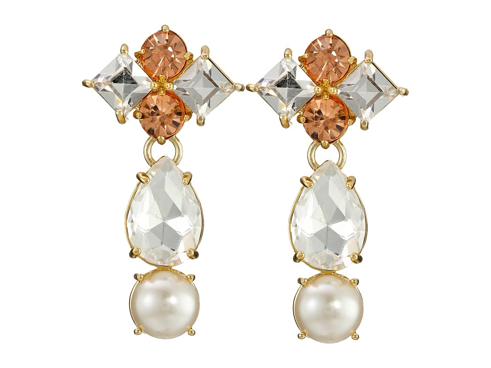 Kate Spade New York - Twinkling Fete Statement Earrings (Cream Multi) Earring