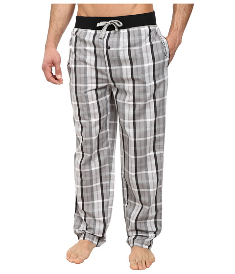 Kenneth Cole Reaction - Lounge Pants (Grey Shdy Plaid) Men's Pajama