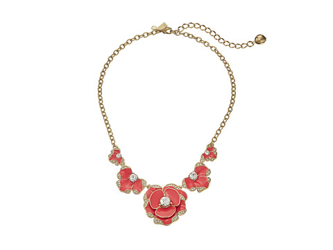 Kate Spade New York - Beach House Bouquet Pendant Necklace (Geranium) Necklace