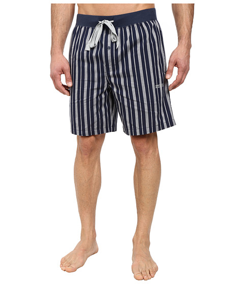 Kenneth Cole Reaction - Woven Jam (Dress Blue Stripe) Men's Pajama