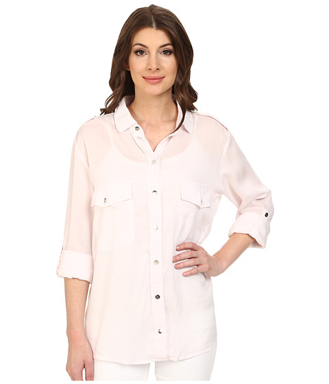 Sanctuary - Boyfriend Shirt (Silver Pink) Women's Clothing