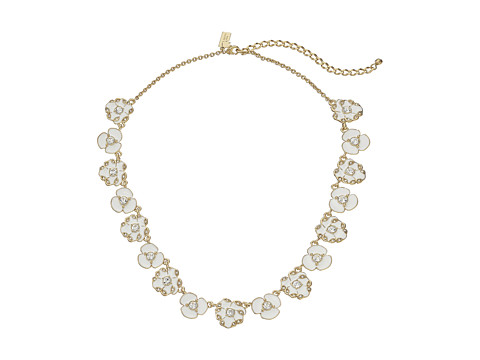 Kate Spade New York - Beach House Bouquet Small Necklace (White) Necklace