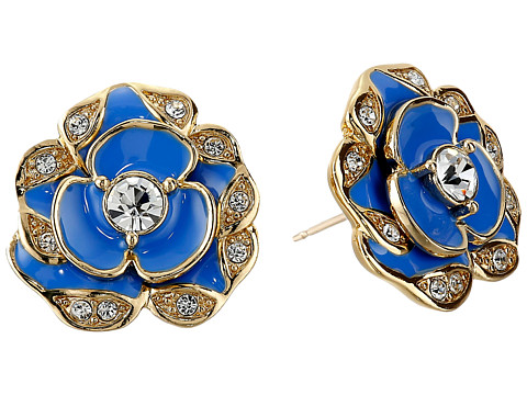 Kate Spade New York - Beach House Bouquet Studs Earrings (Ocean Blue) Earring
