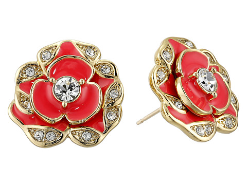 Kate Spade New York - Beach House Bouquet Studs Earrings (Geranium) Earring