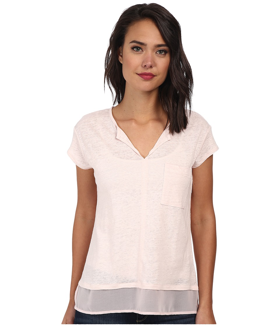 Sanctuary - City Mix Tee (Silver Pink) Women's Short Sleeve Pullover