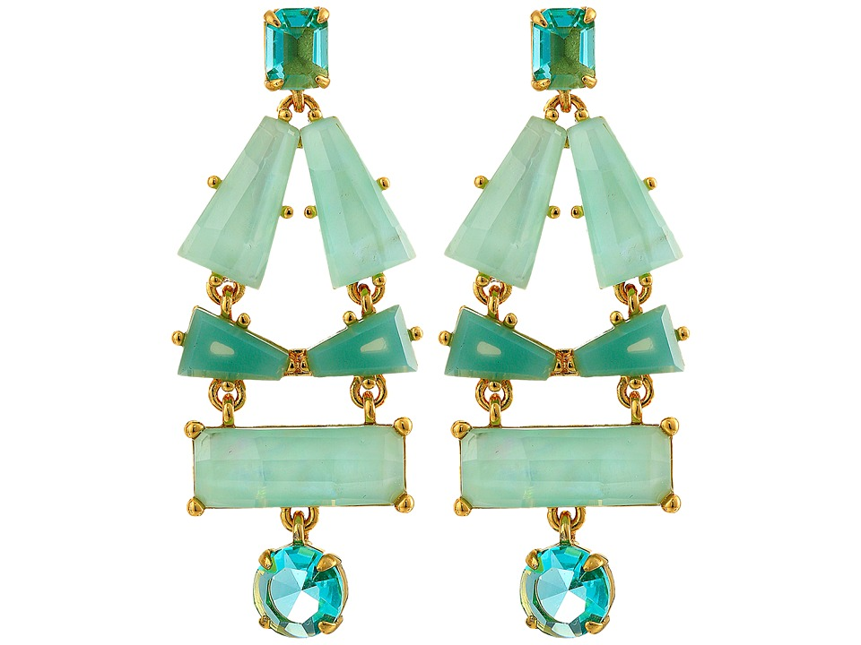 Kate Spade New York - Beach Gem Statement Earrings (Aqua Multi) Earring