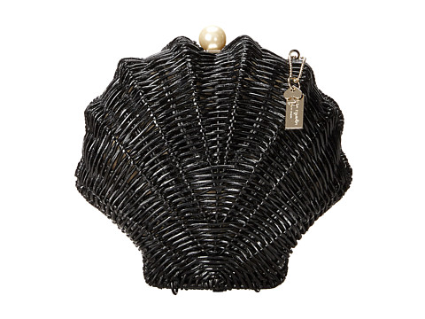 Kate Spade New York - Splash Out Wicker Clam Shell (Black) Handbags