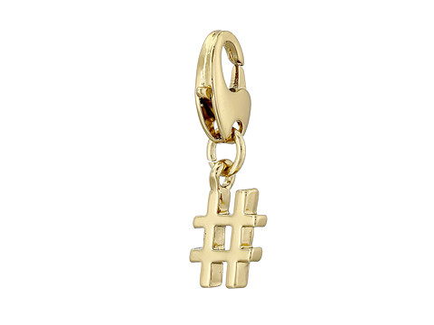 Kate Spade New York - How Charming Hashtag Charm (Gold) Charms Bracelet