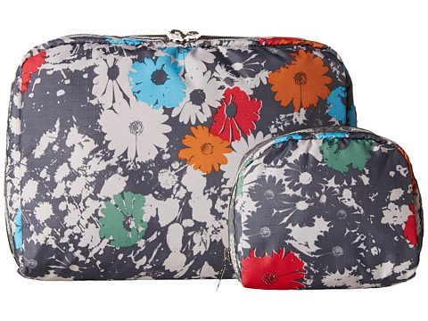 LeSportsac Luggage - Extra Large Rect And Square Cosmetic Combo (Chroma Flower) Cosmetic Case