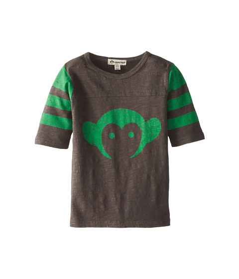 Appaman Kids - Super Soft Retro Monkey Hockey Jersey (Toddler/Little Kids/Big Kids) (Vintage Black) Boy's T Shirt