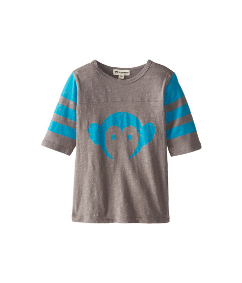 Appaman Kids - Super Soft Retro Monkey Hockey Jersey (Toddler/Little Kids/Big Kids) (Mist) Boy
