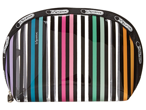 LeSportsac - Clear Medium Dome (Lestripe Clear) Cosmetic Case