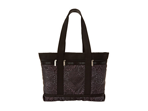 LeSportsac Luggage - Medium Travel Tote (Bali Charcoal) Tote Handbags
