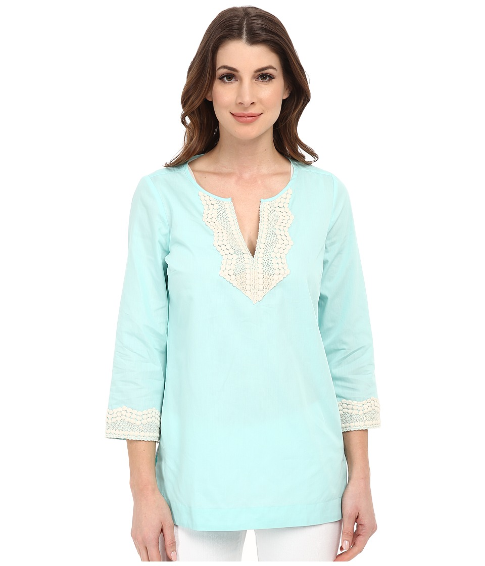 NYDJ - Fit Solution Embellished Tunic (Seafoam Green) Women's Blouse