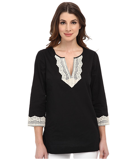 NYDJ - Fit Solution Embellished Tunic (Black) Women's Blouse