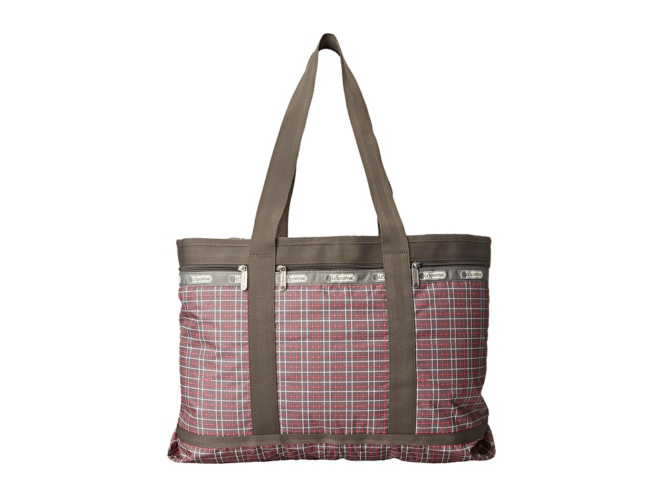 LeSportsac Luggage - Travel Tote (Tattersal Grey) Bags
