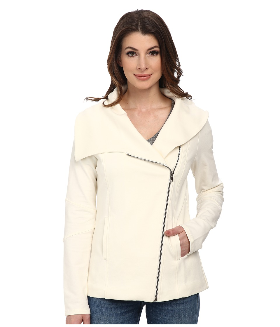 NYDJ - City/Sport Cozy Moto Jacket (Vanilla) Women's Coat