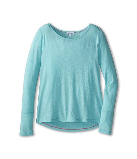 Splendid Littles - Textured Solid Long Sleeve Top (Big Kids) (Light Blue) Girl