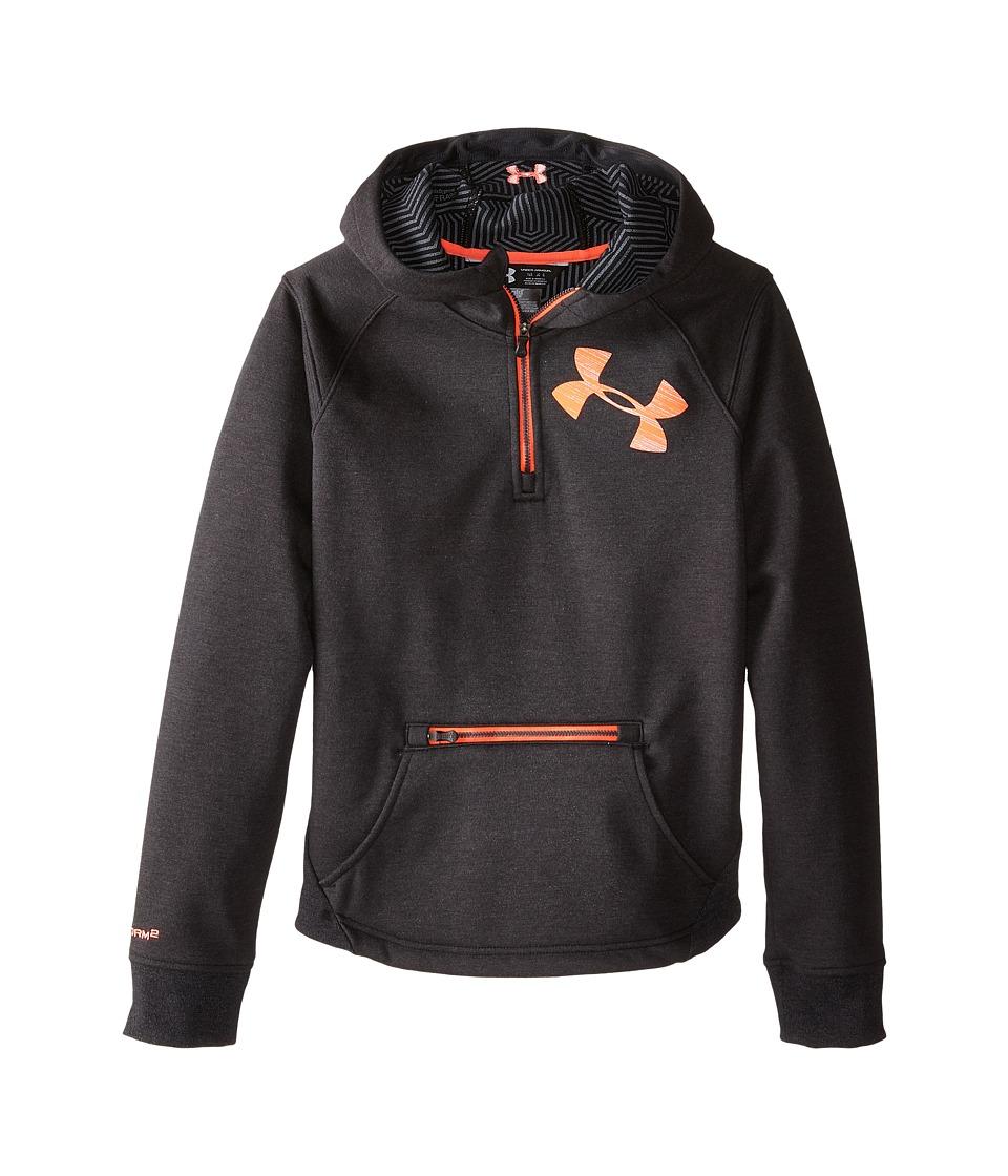 Under Armour Kids - UA Dobson 1/2 Zip Jacket (Big Kids) (Asphalt Heather) Girl's Coat