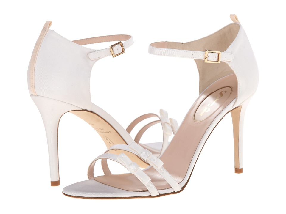SJP by Sarah Jessica Parker - Maggie (White Grosgrain) Women's Shoes