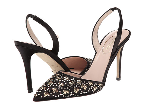 SJP by Sarah Jessica Parker - Cleopatra (Black Satin) Women's Shoes