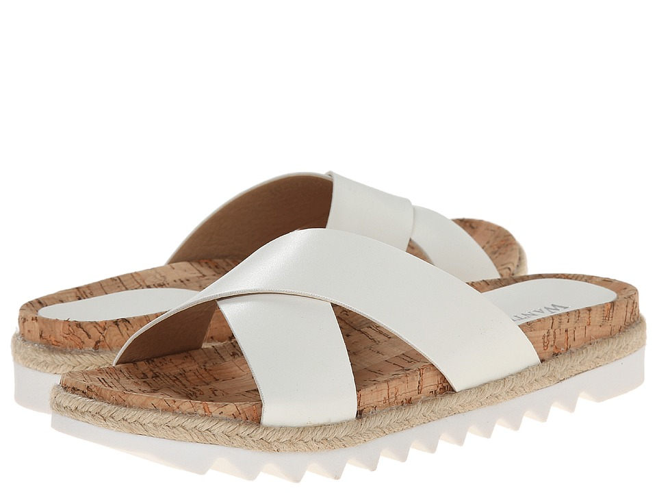 Wanted - Parquet (White) Women's Slide Shoes