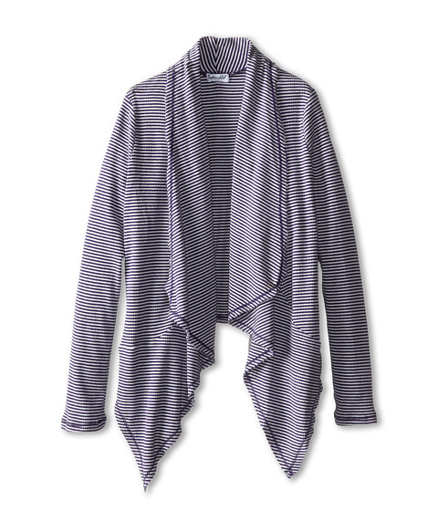 Splendid Littles - Classic Stripe Wrap (Big Kids) (Plum) Girl's Sweater
