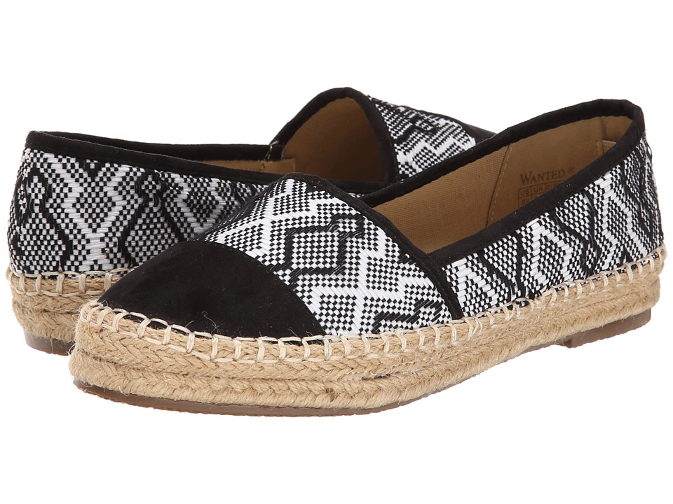 Wanted - Ibizza (Black) Women's Slip on Shoes