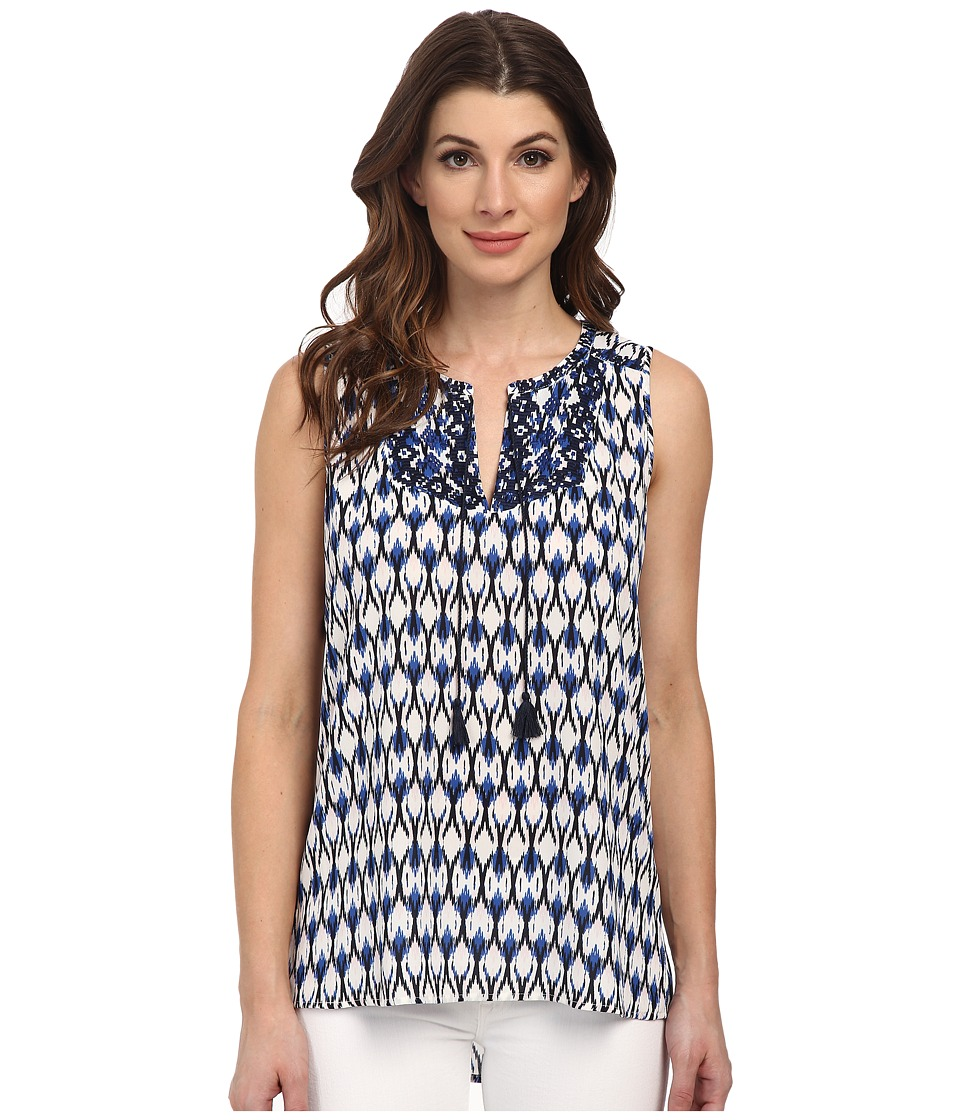 NYDJ - Modern Natives Printed Sleeveless Top (Washed Indigo) Women's Sleeveless