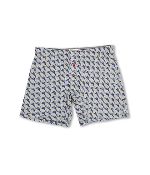 Tommy Bahama - Printed Cotton Modal Jersey Lounge Shorts (Heather Grey) Men
