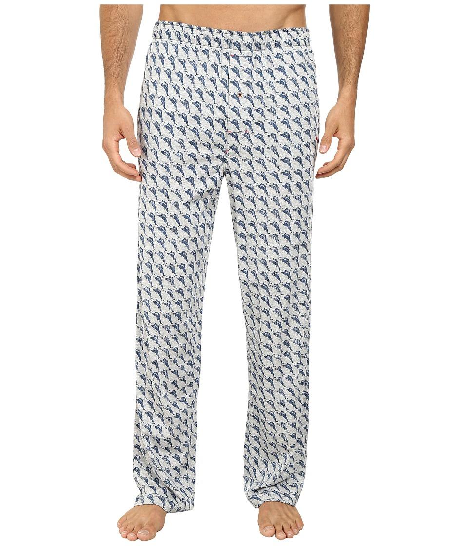 Tommy Bahama - Printed Cotton Modal Jersey Lounge Pants (Heather Grey) Men