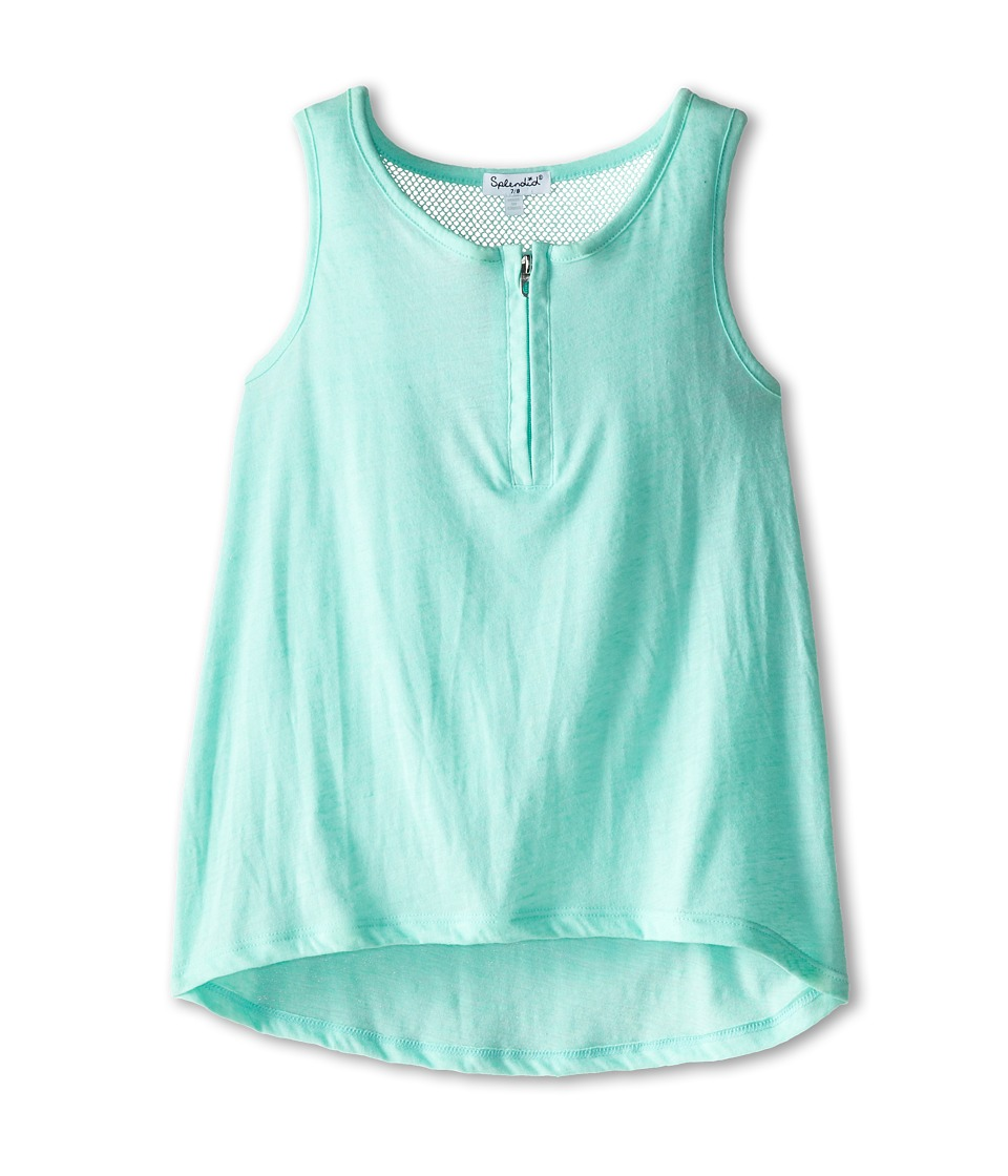 Splendid Littles - Textured Solid Tank Top (Big Kids) (Light Green) Girl's Sleeveless
