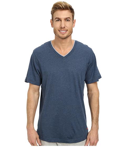 Tommy Bahama - Heather Cotton Modal Jersey Tee (Navy) Men's T Shirt