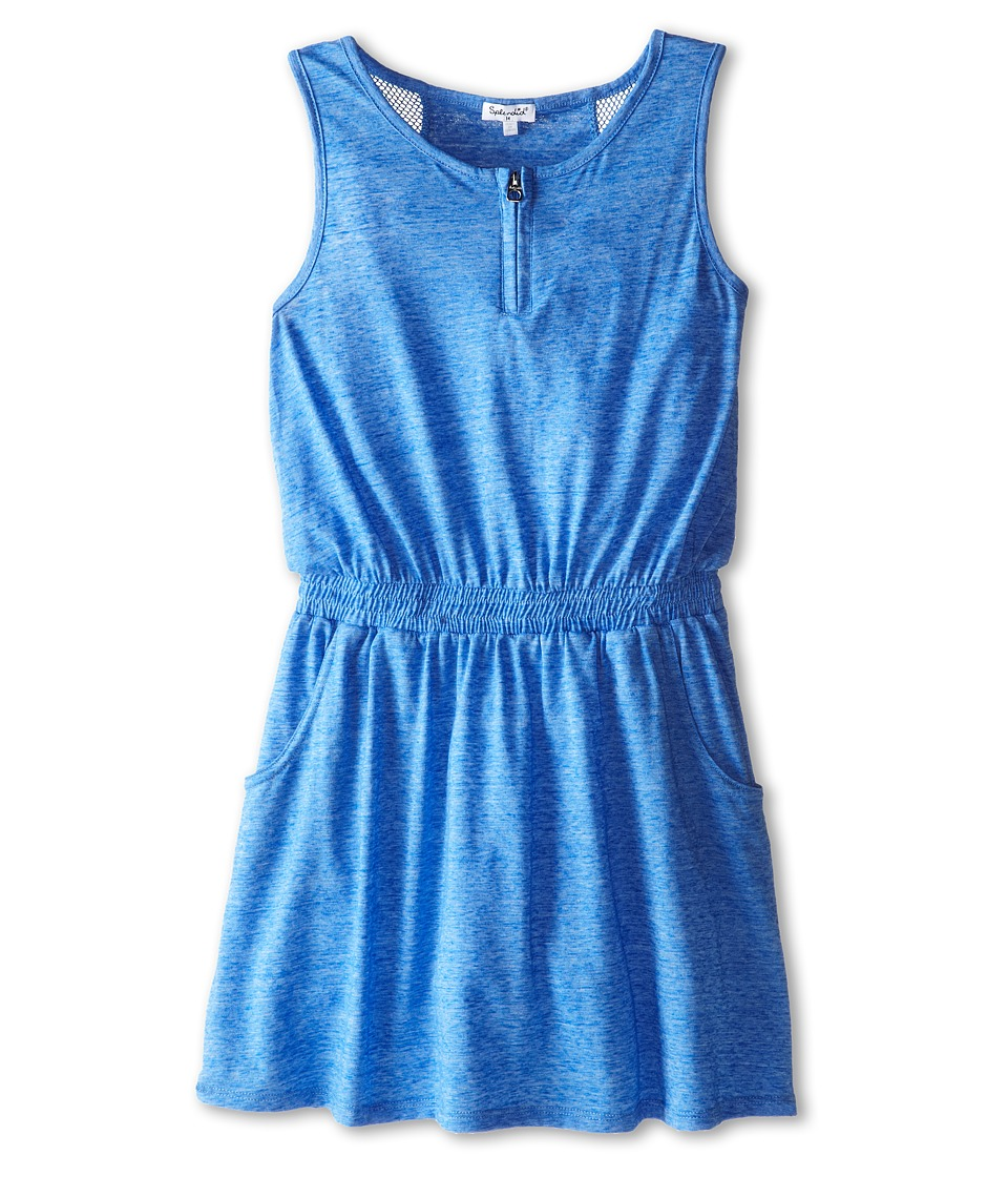 Splendid Littles - Textured Solid Dress (Big Kids) (Blue) Girl's Dress