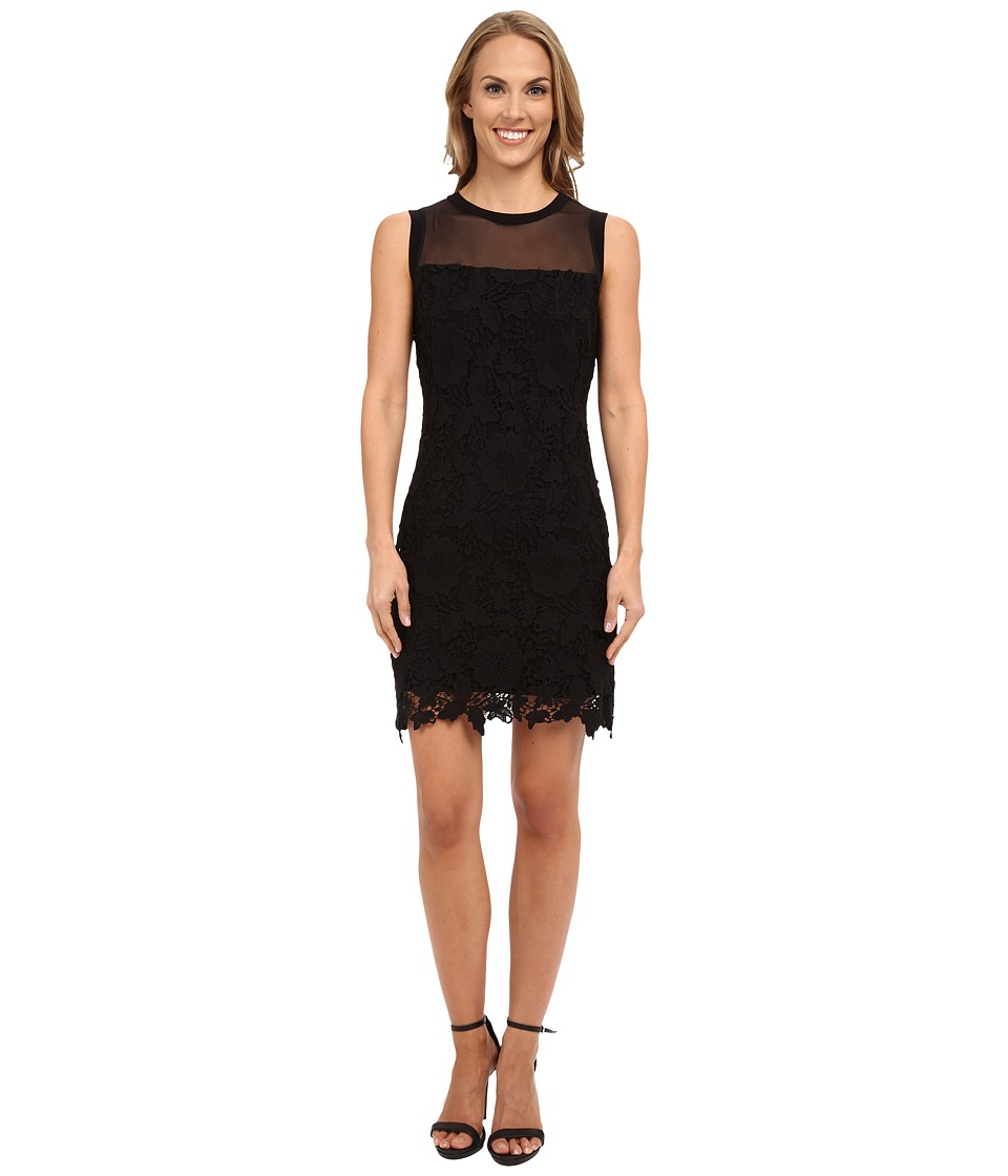 KUT from the Kloth - Illusion Lace Dress (Black) Women's Dress