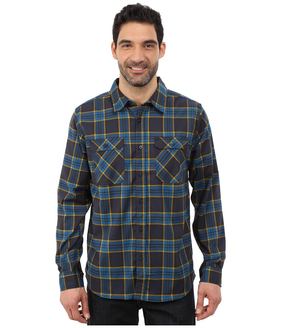 Mountain Hardwear - Stretchstone Flannel Long Sleeve Shirt (Hardwear Navy) Men's Long Sleeve Button Up