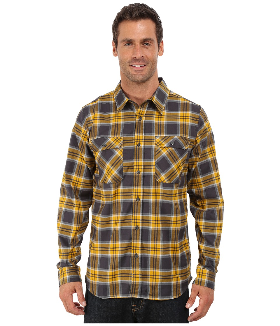 Mountain Hardwear - Stretchstone Flannel Long Sleeve Shirt (Shark) Men's Long Sleeve Button Up